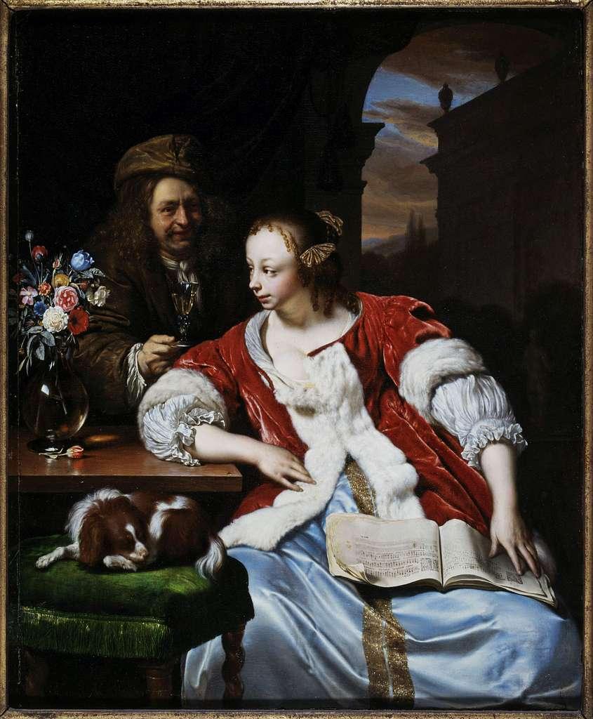 Le chant interrompu : portrait de l'artiste et sa femme