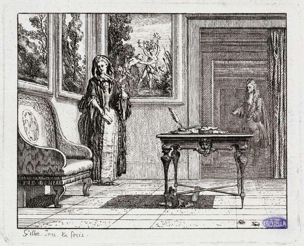Vignettes Fables de La Motte. Les Grillons (Liv. II, fable 19)