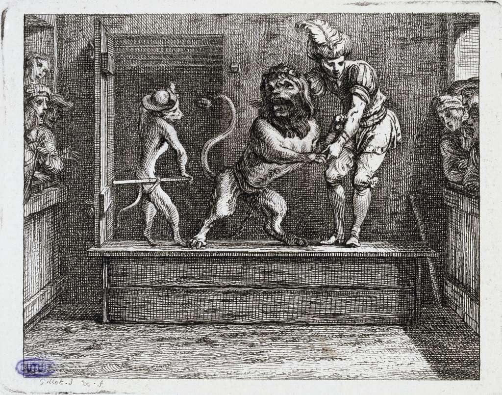 Vignettes Fables de La Motte. L'Horoscope du lion (Liv. V, fable 13)