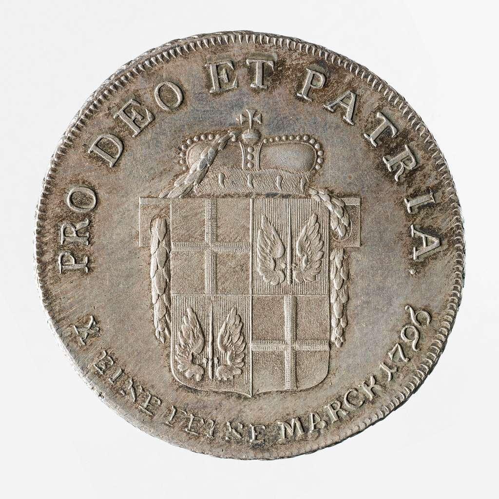 Ecu de convention de Fulda, 1796
