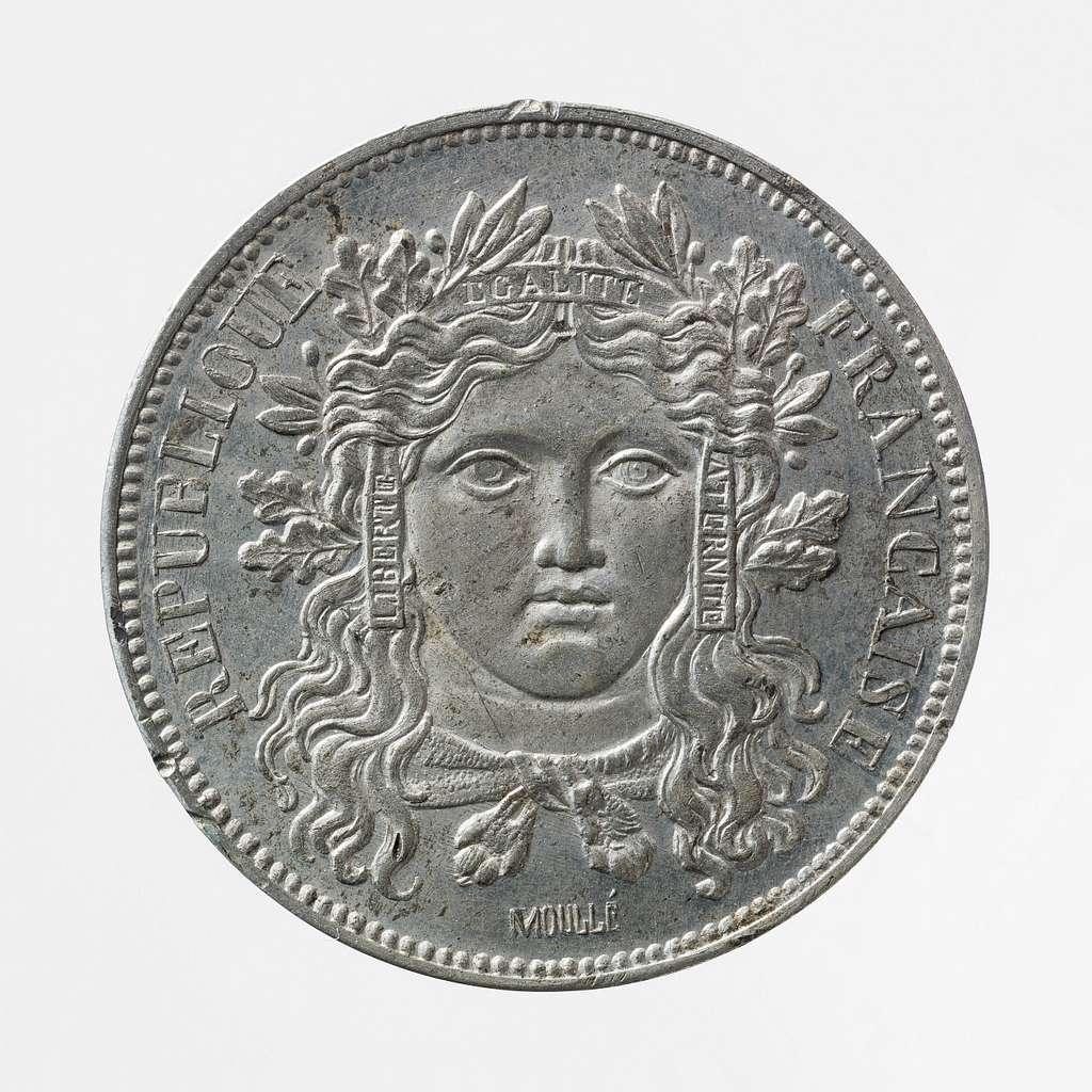 Essai pour la pièce de 10 centimes de franc de la Deuxième République, 1848