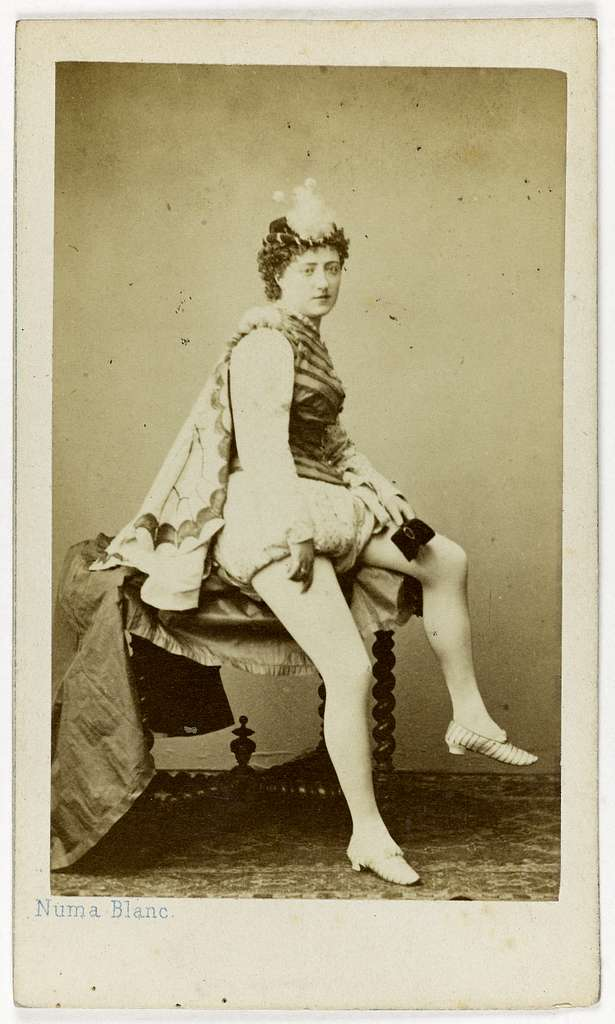 Portrait de Blanche Montaubry, cousine du ténor Montaubry, et danseuse à l'Opéra entre 1861 et 1873.