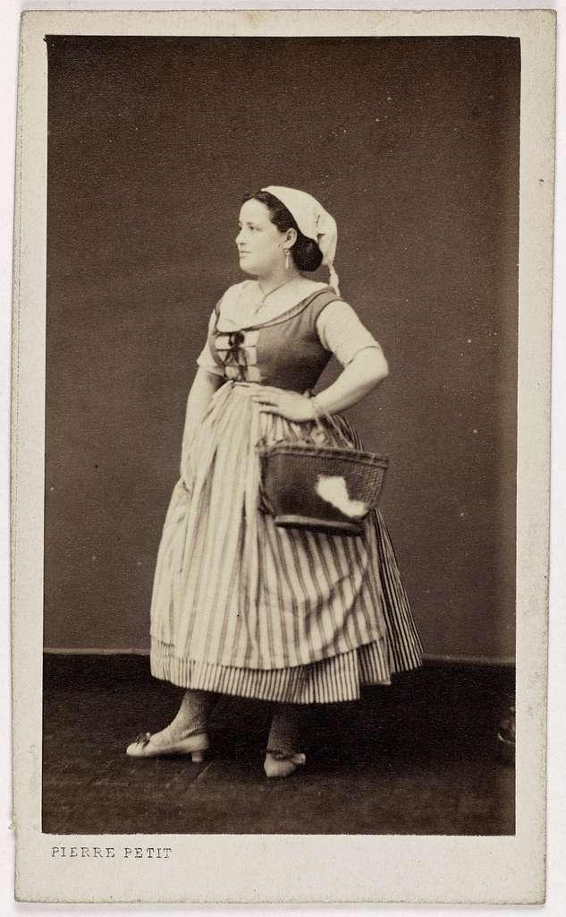 Portrait de Mlle Saticq, (actrice)