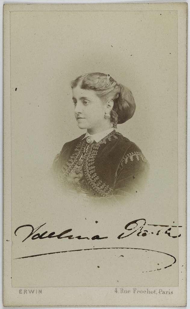 Portrait de Patti Adelina, (Adela-Juana-Maria, dite), (1843-1919), (chanteuse lyrique)