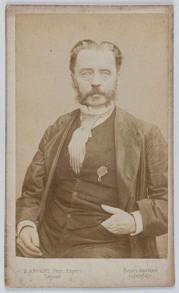 Portrait de Dominique Théophile  Régère de Montmore (1816-1893), vétérinaire, journaliste et membre de la Commune en 1871.
