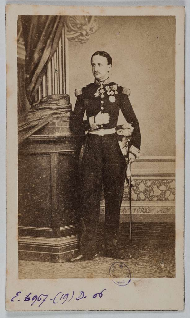Portrait de Marie Léopold François II (1836-1894), (Roi de Naples et des deux Siciles)
