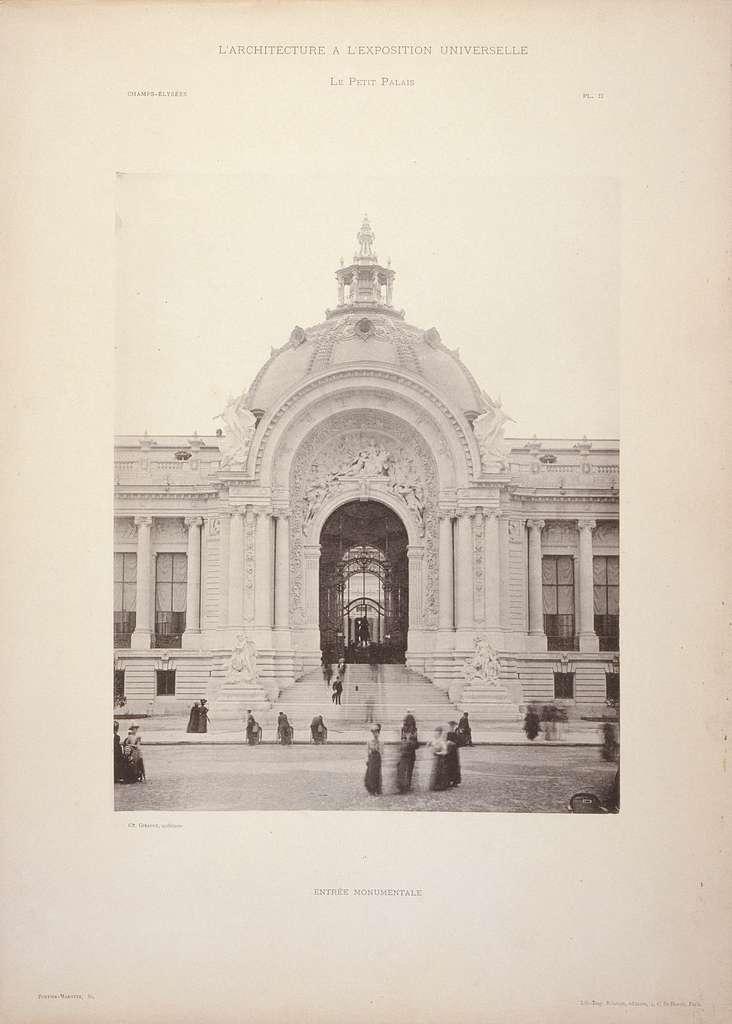 Porte-folio comprenant 37 planches d'architecture de l'Exposition Universelle de 1900