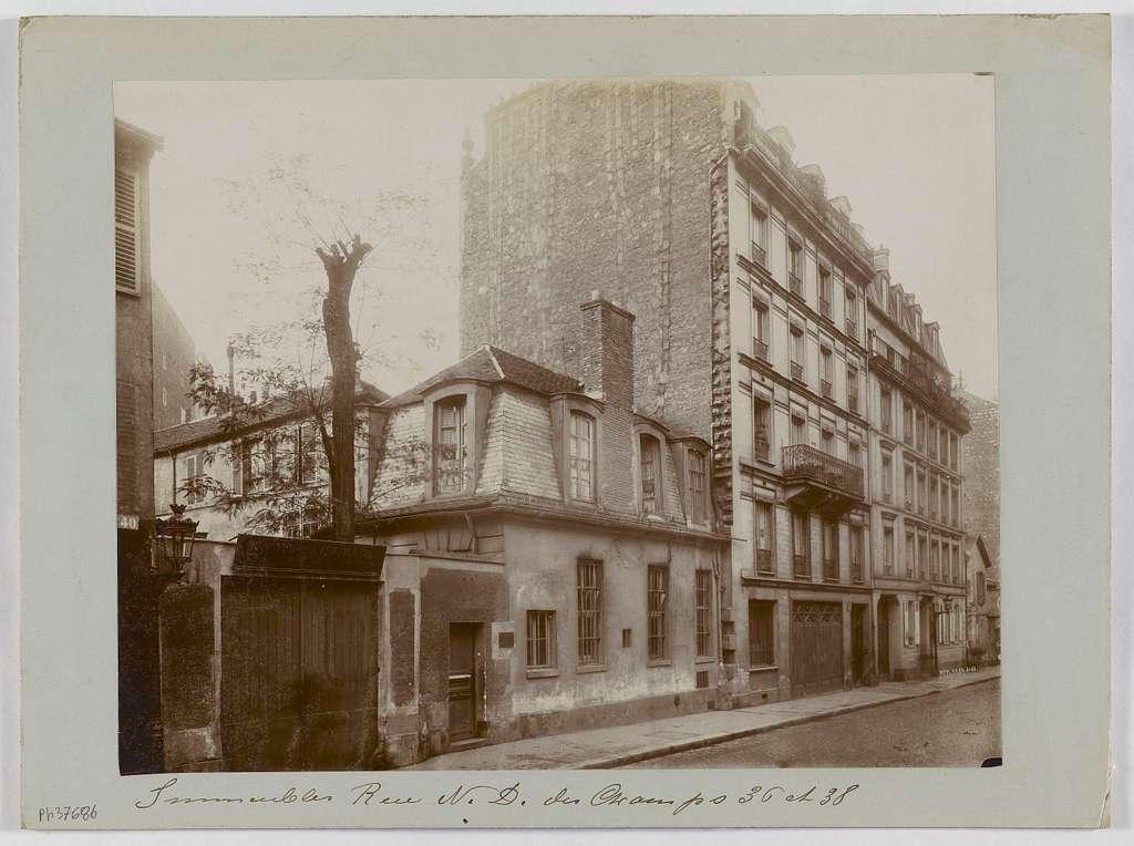 Immeubles, 36-38 rue Notre-Dame-des-Champs, 6ème arrondissement, Paris.