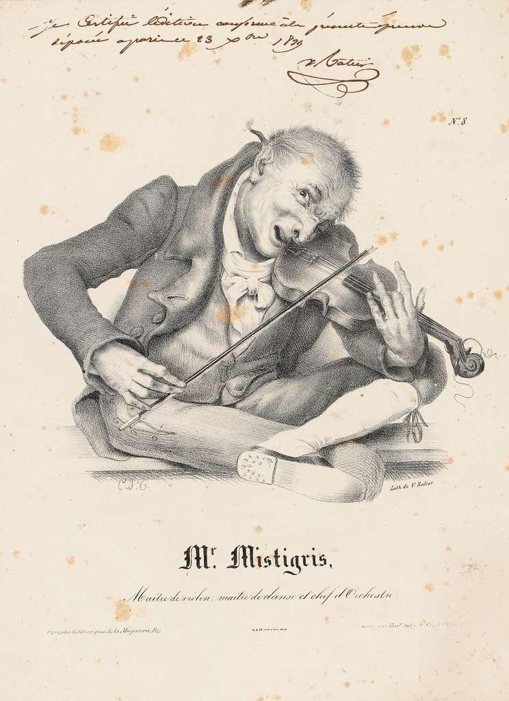 N°8/Mr. Mistigris,/Maître de violon, maître de danse et chef d'Orchestre.